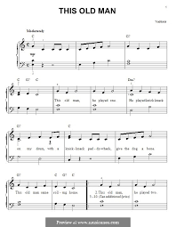 this old man piano sheet music this old man by folklore sheet music on musicaneo