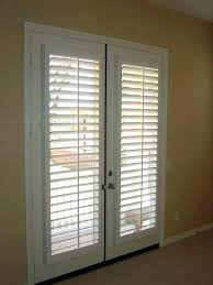 french door with blinds between add on glass in doors inside the patio exterior home intended
