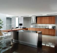 40 Contemporary Kitchen Designs With Stainless Steel Cabinets Rilane Cool Stainless Steel Table With Backsplash Minimalist