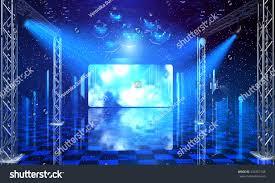 Blue Light Disco Disco Party Background Blue Light Rays Stock Illustration