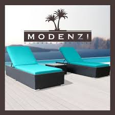 patio furniture chaise lounge. Modenzi 3 PCS Outdoor Rattan Wicker Chaise Lounge Sofa Couch Patio Furniture Set O