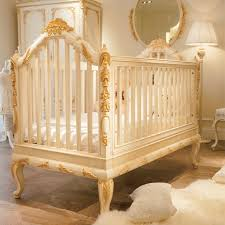 ... Large Size Luury Wooden Baby Crib Royal Golden Hand ...