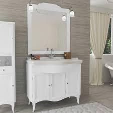 vintage style wooden bathroom vanity