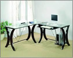 glass corner desk office depot desk home design ideas