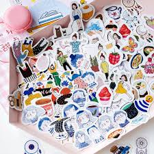 <b>45 Pcs</b>/bag <b>Cute</b> Dreamcatcher Paper Stickers Decoration Diy ...