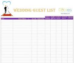 Wedding Guest List Excel Spreadsheet Unique Wedding Planner