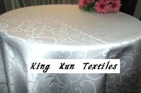 90 inch round tablecloth round white color polyester jacquard table cloth for wedding inch round tablecloths