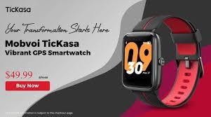 Gearbest - <b>Mobvoi TicKasa Vibrant</b> Smartwatch Global Launch ...