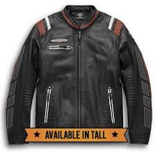 harley davidson men s boxford leather riding jacket removable shell liner
