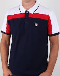 Design Polo Shirts Uk Fila Vintage Spencer Polo Shirt Navy White Red