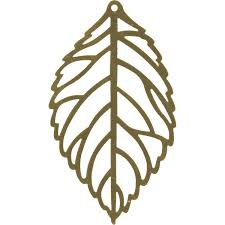 Gold Plated Filigree, Leaf, 65x37mm
