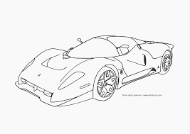 Amazing of Coloring Pages Of Cars With Flames For Color P #5858