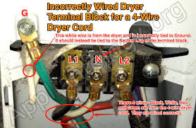 4 wire dryer wiring diagram wiring diagrams best incorrectly wired dryer terminal block for a 4 wire dryer cord the 4 wire hot tub wiring diagram 4 wire dryer wiring diagram