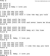 The Byrds song Suzy Q, lyrics