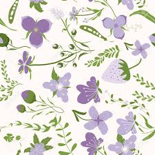 Purple Flowers Backgrounds Spring Purple Flowers Backgrounds Seamless Floral Pattern