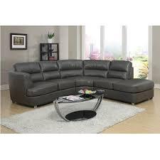 modern leather sectional sofas. Saville Modern Leather Sectional Sofa - Grey Sofas L
