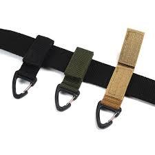 Outdoor Nylon Webbing Key Chain Backpack Quickdraw Single ...
