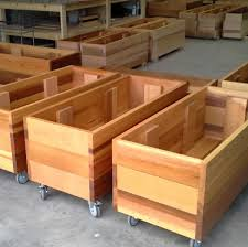 future environment mobile timber planter boxes