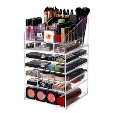 lifewit large 6 tier drawers acrylic makeup organizer with top storage tray handmade multi