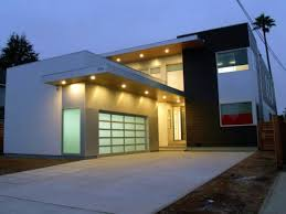Cream High End New Zealand Houses Cement Combined With Sliding - High end exterior doors