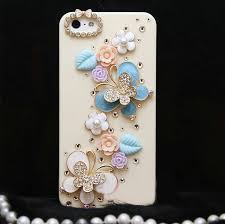 name bling crystal erfly diy cell phone case shell cover deco den kit