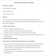 Virtual Resumes Administration Resume Template 34 Free Samples Examples