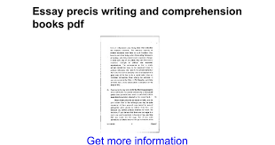 essay precis writing and comprehension books pdf google docs