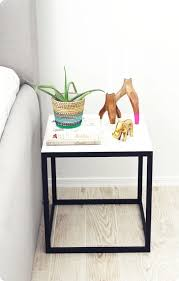 diy home decor i love this ikea side table made to look like marble