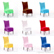 thicker elasticity chair covers solid color half chairs seat cover skirt hemline design spandex stretch for wedding hotel decoration 8 8xy r wedding table