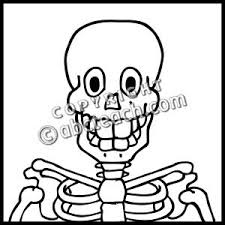 Small Picture Skeleton Head Coloring Pages Fun for Halloween