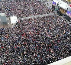 Un mare di sardine nel cuore di Bologna: oltre 40mila in ...