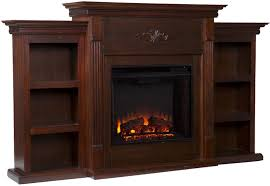 detail 70 electric fireplace heater tv stand bookcase shelves remote thermostat 1500w