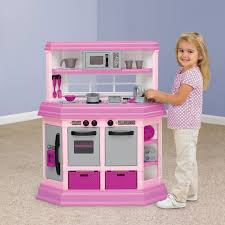 american plastic toys deluxe custom pink kitchen for kids with 22 accessories