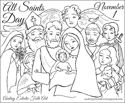 All Saints Sunday Coloring Pagesllll L