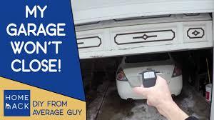 my garage door won t closeGarage door not closing  Easy quick fix  YouTube