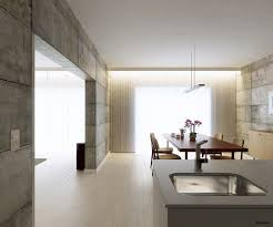 Kitchen Diner Concrete Walls