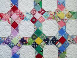 Dear Lissy: Scrap Quilting By Hand, Part 2: Choosing A Style & This little beauty is a classic controlled scrap quilt. It uses a simple  block design called nine patch and snowball, the same pattern I used for  Laura's ... Adamdwight.com