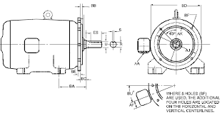Motor Frame Size Chart Nema Flange Mounting Type D Footless Motors Engineers Edge