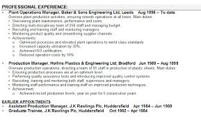 sample operations manager resume  seangarrette cosample operations