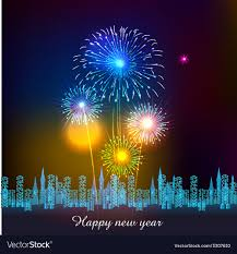 New Year Backgrounds Happy New Year With Fireworks Background Vector Image