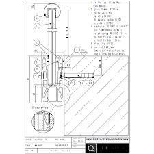 easy glass max q railing uk cad dwg