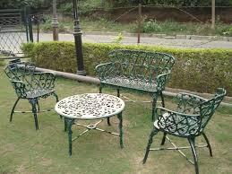 wrought iron garden furniture. Beautiful Garden Singapore Chair Set Green Colour Throughout Wrought Iron Garden Furniture