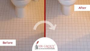 a grout cleaning gave this ceramic bathroom floor in greenwich ct a how to clean