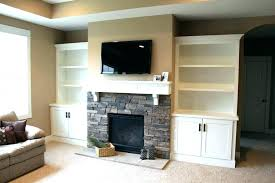 shelves around fireplace shelves around built in shelves around white wooden shelving and stone fireplace storage