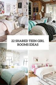 bedroom wall ideas for teenage girls. Plain Teenage 22 Shared Teen Girl Rooms Ideas Cover Intended Bedroom Wall Ideas For Teenage Girls