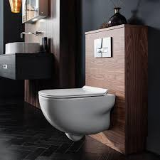 bauhaus wild rimless wall hung toilet soft close seat 520mm projection