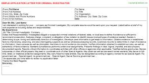 investigator application letters   criminal investigator