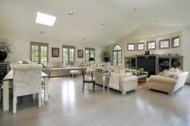 lighting for large rooms. Wide Open Design Living Room Awash In Light Neutral Tones, With Vaulted Ceiling Dotted Lighting For Large Rooms O