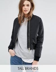 vero moda tall vero moda tall zip er jacket women black