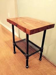 diy wood coffee table with pipe legs rustic industrial end table rustic industrial wood end table or night stand sink on